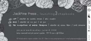 JackPine Press Spring Launch